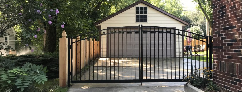 ARCHED MAJESTIC STYLE ALUMINUM GATE