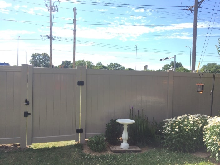 Tall PVC Fence Gate