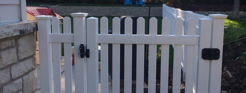 PVC Picket Fence Gate