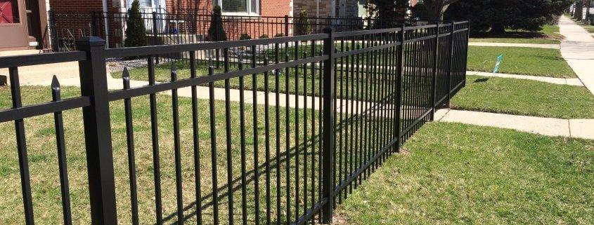 BLACK CONQUEROR STYLE ALUMINUM ORNAMENTAL WALK GATE